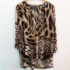 Chico's | Leopard Print Blouse, Size 3